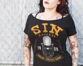 Sin Records Off Shoulder Tee