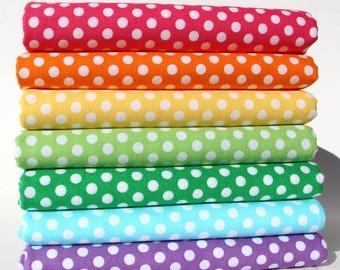 Happy Tones / Kiss Dots 7 pc Fat Quarter Bundle - Michael Miller Fabrics