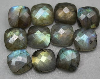 Cushion Rose  Cut Labradorite Cabochons