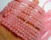 Rose quartz  - 6mm round - full strand - 64 beads - RFG482