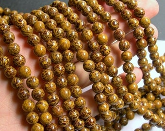 Elephant Jasper - 8 mm round beads - full strand - 50 beads - AA quality - RFG518