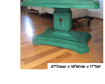 Vintage Side Table ~ Teal / ASCP Florence  - San Diego