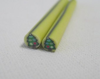 S181 Winter Special - Christmas Tree - Polymer Clay Cane for Miniature Food Deco and Nail Art