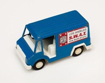 Tootsietoy Los Angeles SWAT Team Van, Law Enforcement Toy, Vintage 70s