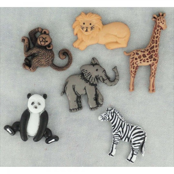 Jesse James Buttons Embellishments Wild Thing Animals Novelty Animal Button Mix