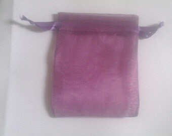 Plum Organza Bags 100 bags 6 x 9 inch for packaging soap, bath salt, beads, herbs, favor bag, wedding, sample