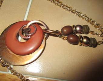 long Bohemeon style vintage chain necklace