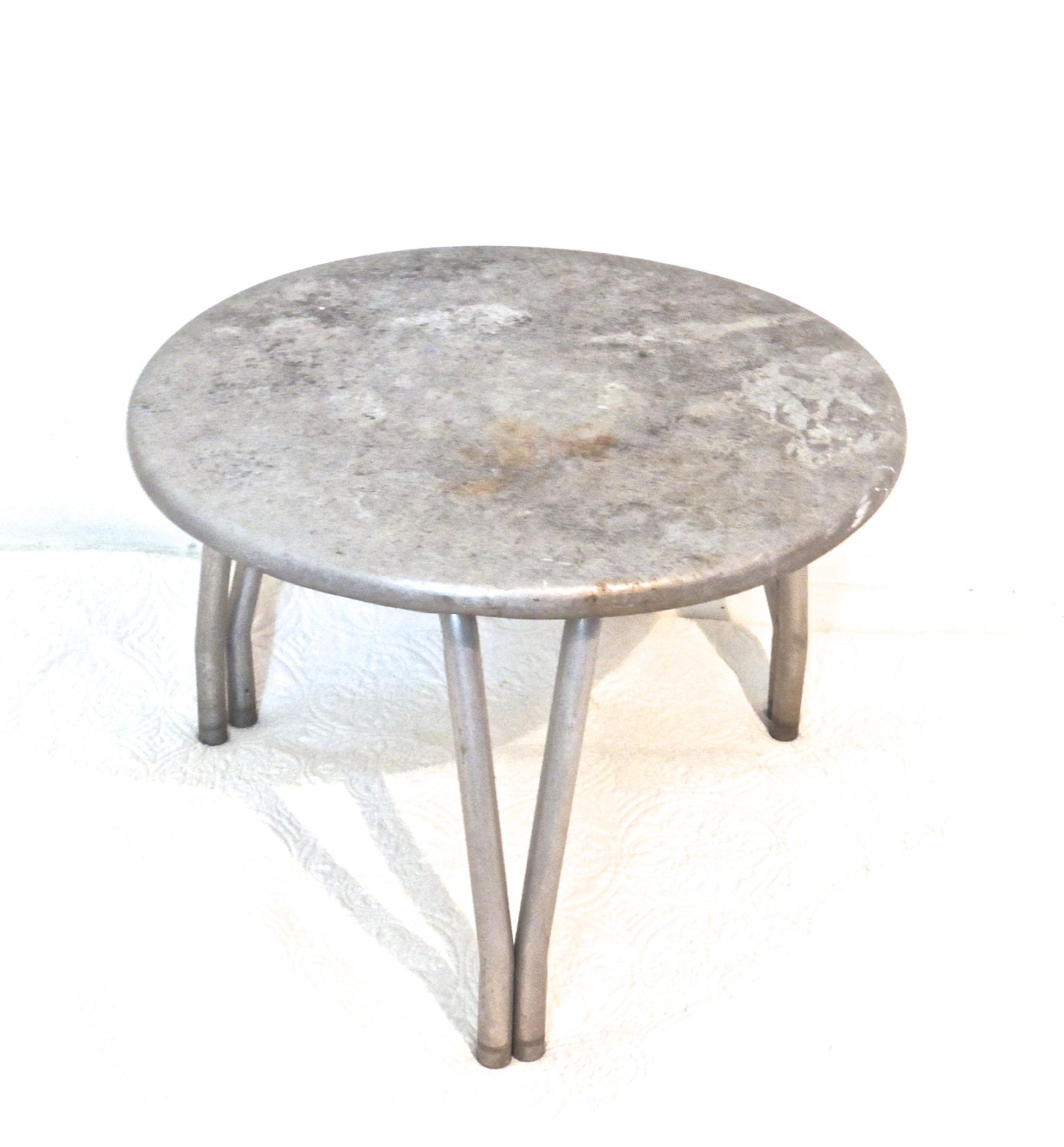 Vintage steel coffee table 1950s 60s mid century industrial for 60s coffee table