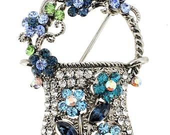 Sapphire Lady Handbag Pin Brooch 1000272