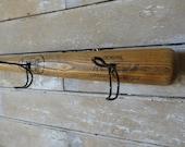 Wooden Tee Ball Bat Cap or Coat Rack Alan Trammell Detroit Tigers