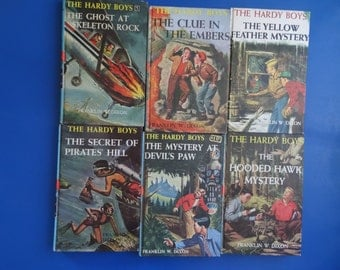 Vintage Hardy Boys Book Set of 6 Number 30's Various Years