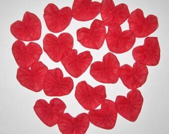 Heart Fabric YoYos, Appliques, Embellishments