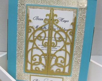 Wedding Invitation Memory Keepsake Box-Custom Made