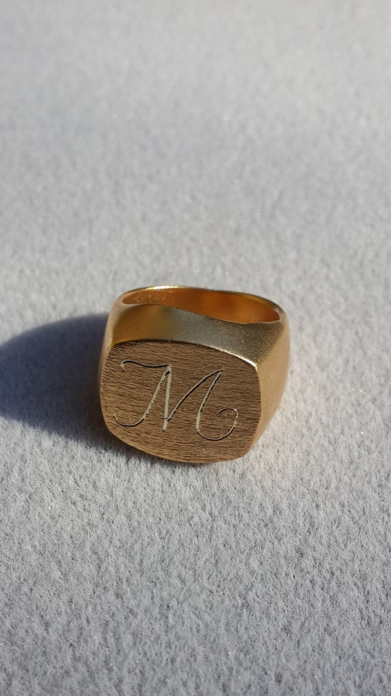 Custom Ring Personalized Ring Signet Ring Monogram Ring