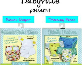 BABYVILLE BOUTIQUE PATTERNS - Totally Trainer or Ultimate Pocket Diaper Pattern