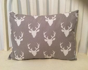 Buck forest pillow, throw pillow, deer pillow. Cover only