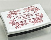 VersaFine Stamp Pad -- Crimson Red -- No Refill Needed Long Lasting Captures fine details like no other