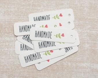 "10 handmade gift tag ""Handmade"""