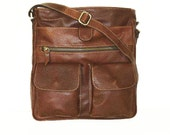 Brown Leather Messenger Laptop Bag Leather Messenger Bag Leather IPad Bag Leather Crossbody Leather Messenger Leather Purse Messenger-Iris!