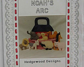 RARE Vintage Noah's Arc Pattern by Hedgewood Designs Fabric Ark and Animals; Cow, Duck, Camel, Elephant, Sheep, Pig, Lion UNCUT