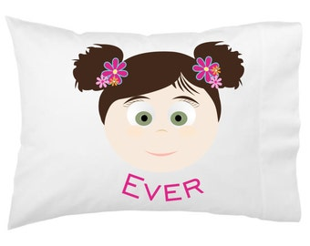Kids Personalized Pillowcase Kids Custom Personalized Pillowcase Monogrammed Personalized Kids Pillowcase Create a Face Christmas Gift