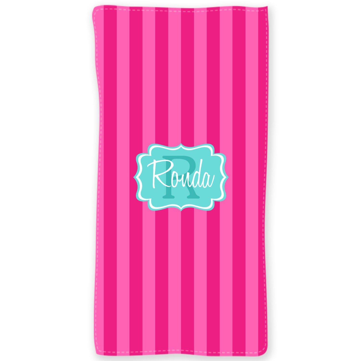 Cabana Stripes Personalized Beach Towels Custom Monogrammed