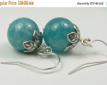 20% Off Sale Blue Stone Earrings, Blue Quartz Earrings, Quartz Jewelry, Blue Gifts, Denim Blue, Gift For Her, Ask Questions