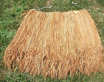 Vintage Hawiian Grass Hula Skirt with Original Tags Leis Included Costume
