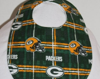 Green Bay Packers Flannel / Terry Cloth Bib