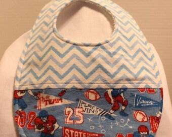 Football Flannel / Terry Cloth Bib