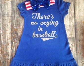 Theres no crying in baseball dress girls baseball dress baseball outfit there's no crying in baseball team dress girls baseball