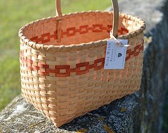 "Shaker Style ""Knitting Basket"" Nina Webb Basket Handwoven Rattan"