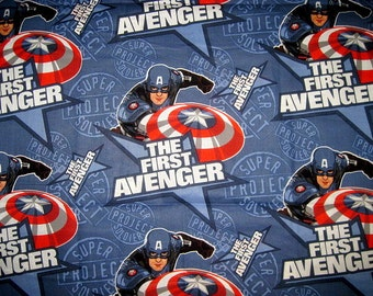 FIRST AVENGER Fabric, Cotton fabric, captain america fabric, fat quarter, FQ, 18X22, first avenger fat quarter, captain america fat quarter