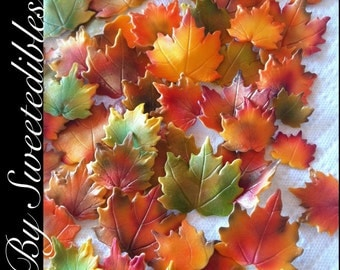 Gumpaste Autumn Leaves