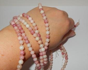 Pink Opal 6mm round bead strand