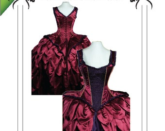 PDF Corset Sewing Pattern, Instant download. Beautiful Versailles, Steampunk wedding Corset size SMALL