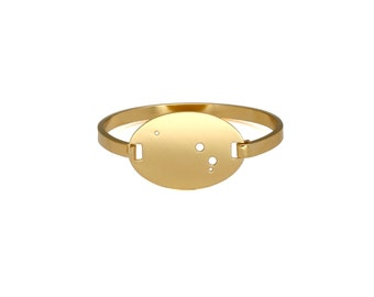 Aries 14kt Gold Dipped Zodiac Constellation Oval Bracelet