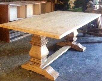 Handcrafted Pedestal Table