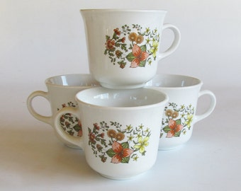 "Corning Corelle ""Indian Summer"" Coffee Cups - Mugs - Set of 4"