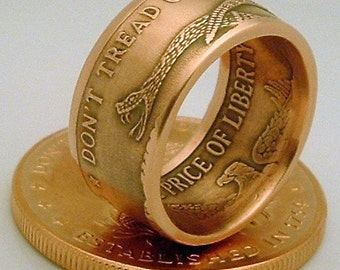 Don't Tread on Me Copper Bullion Coin Ring (Available in sizes 10 through 15