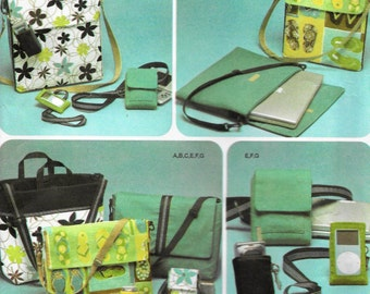 Simplicity 4391 Bags for electronics Lap Top, game bag, cell phone, camera, Ipod, messenger  Uncut