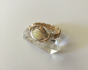 Sterling Gold & Opal Ring