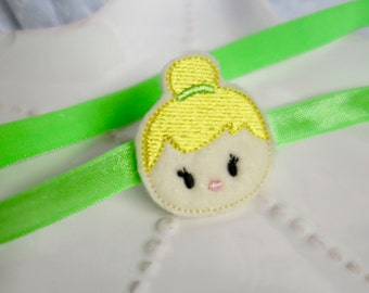 So Cute- Tinkerbell Fairy Inspired Headband or Hair Bow- Adorable Accessory for Disney Trips