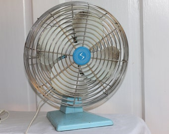 Vintage blue fan
