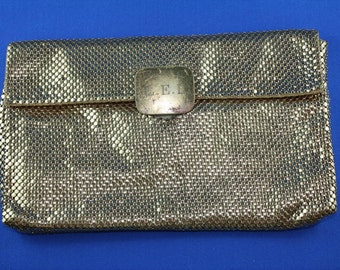 Vintage Gold Mesh Clutch Purse Whiting & Davis