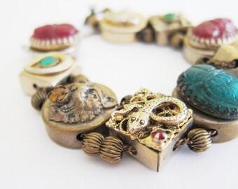 Vintage 70's Goth Bracelet
