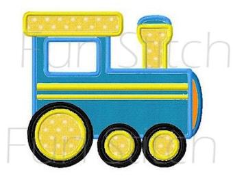 train transportation machine embroidery design applique
