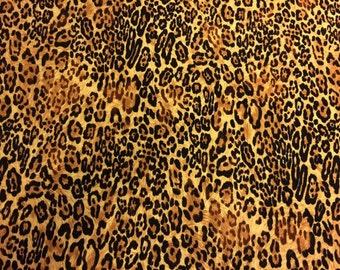 Cheetah Leopard Stretch Fabric Lycra