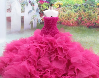 Blythe Outfit Clothing Cloth Fashion handcrafted beads tutu gown dress 956-16