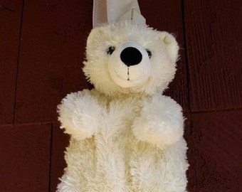UBER Cute Punk Hipster Kawaii Rave Fuzzy Bear  Animal Plush Single Strap Shoulder Bag  Pouch